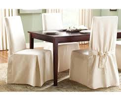 cotton dining chair covers duck box cushion slipcover main white