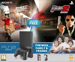 sony playstation 2 cd. sony playstation 2 (ps2) with street cricket-2, don-2 playstation cd y