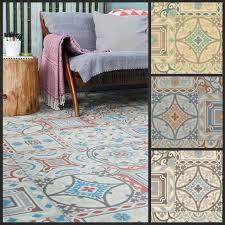 moroccan style vinyl flooring sheet cushion floor kitchen black and white checd tile effect laminate
