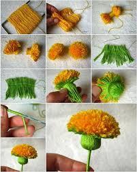 pom pom flower tutorial 1
