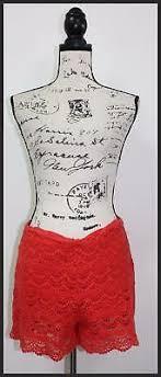 Gianni Bini Gb Womens Red Crochet Casual Shorts Size M
