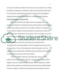 role of mentor in evaluating student learning essay role of mentor in evaluating student learning essay example