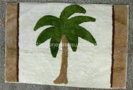 palm tree bath rug set tropical island mat key largo cotton brown beige s palm tree bath mats rugs