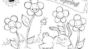 Preschool Spring Coloring Sheets Preschool Spring Coloring Pages