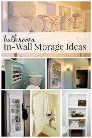 Bathroom In-Wall Storage Ideas