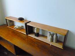 walnut and cherry dovetail floating wall box shelves
