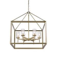 smyth 6 light white gold chandelier with clear glass shade
