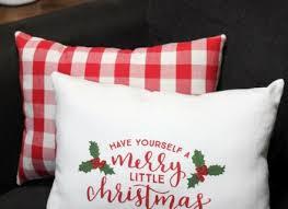 DIY Christmas Dish Towel Pillows All Things Target
