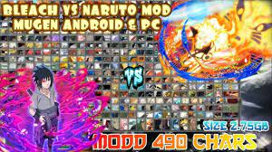 BLEACH VS NARUTO 3.3 MOD 490 CHARACTERS MUGEN PC & ANDROID [DOWNLOAD] |  Naruto games, Anime fight, Naruto mugen