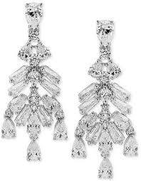 at macy s macy s arabella swarovski zirconia chandelier earrings in sterling silver