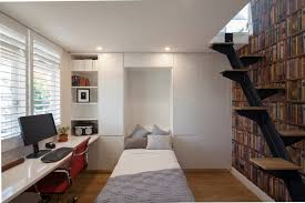 bed for office. How To Use Ikea Hide A Bed For Cozy Bedroom Design: Modern Office Desk And