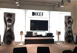kef muon speakers. also on demo were the mark-two versions of flagship kef muon speakers (yours for just £140,000) which feature latest uni-q driver. kef