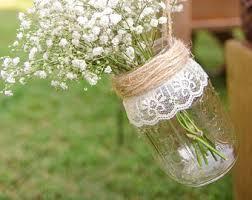 Mason Jar Decorations For A Wedding Lace mason jars Etsy 21