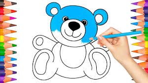 1280x720 how to draw and color teddy bear coloring book pages video for