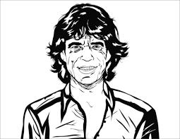 Mick Jagger Kleurplaat Gratis Kleurplaten Printen