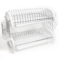 Kitchen Dish Rack Kitchen Cool Dish Drying Rack Design 2 Tier Dish Rack Chrome