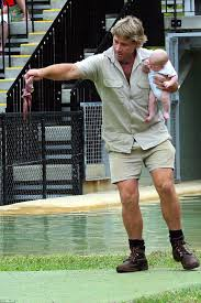 steve irwin son. the late steve irwin was criticised at time for putting his one-month- son i