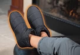 Heated Indoor Outdoor Slippers Sharper Image