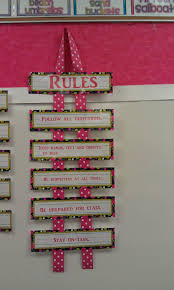 cute way to display classroom rules easy display that doesn t take up much space on the wall