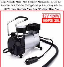 Máy nén khí mini - máy bơm hơi mini xách tay giá rẻ - Bơm hơi Ôtô xe
