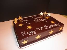 Simple Square Chocolate Birthday Cake Designs