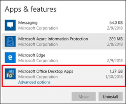Windows 365 Office How To Uninstall Individual Office Apps From Windows 10 Computer