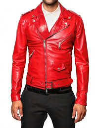 mens red leather jacket 8wtgys