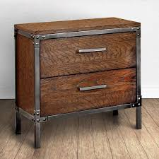 furniture industrial style. 195 furniture of america anye industrial style 2drawer nightstand 24 inches high