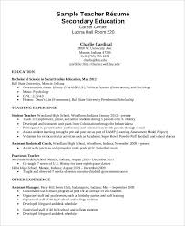 Higher Education Resume Enchanting 48 Modern Teacher Resume Templates PDF DOC Free Premium