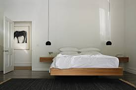 Bedroom:Awesome Minimalist Bedroom Decoration With Cool Lighting Ideas  Creative Minimalist Floating Bed Furniture Design