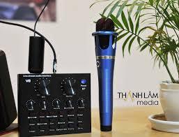 Bộ mic + sound card hát karaoke bluetooth cao cấp (có thể dùng livestream)  - Thành Lâm Media