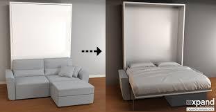 Murphy Bed With Sofa Combo Regarding And Murphysofa Minima Sectional Expand  Plan 1
