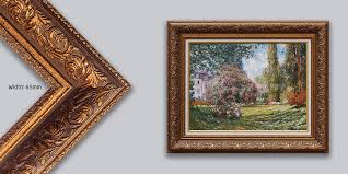 classical ornate brown gold frame