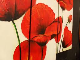 poppy wall art red poppies wall art canvas floors doors interior design