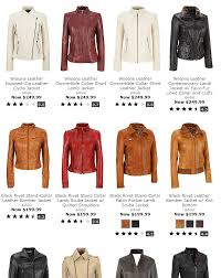 i selected the wilsons leather exposed zip leather cycle jacket i love it it s made from genuine leather so it s very soft i was really attracted to the