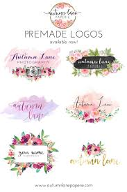 best ideas about watercolor logo photography autumn lane paperie pre made logos pre designed logos business branding