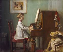 the artist s daughter playing the piano sir william orpen