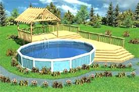 Above Ground Swimming Pool Deck Designs Custom Design Inspiration