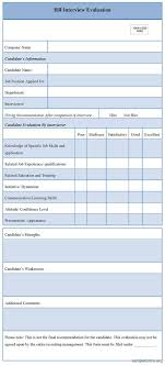 interview assessment form template hr evaluation form a vital piece of any training should be