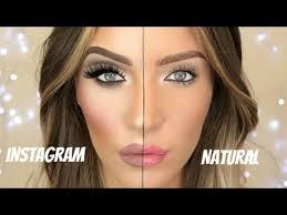 insram makeup vs natural stephanie lange