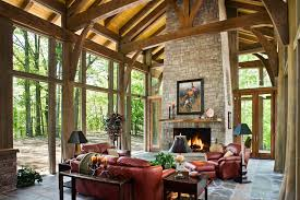 comfy cozy living room with cathedral ceilings and floor to ceiling windows in tennessee os 990x660