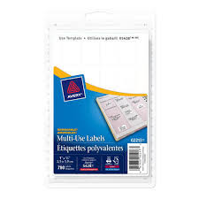 Avery 1 2 X 1 3 4 Template Avery Multi Use Removable Laser Inkjet Labels Rectangular 3 4 X 1 780 Pack