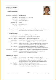 Sample Curriculum Vitae Template Pdf Tomyumtumweb Com