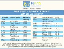 Dilivery Report Nms Weekly Delivery Report Week 30th Jan 03 Feb 2017
