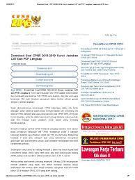 Diketahui, badan kepegawaian negara ( bkn) mengumumkan pembukaan pendaftaran cpns 2021 kemarin selasa (29/6/2021) dan paling lambat pada hari ini (30/6/2021). Contoh Soal Tkp Cpns 2018 Pdf Cute766
