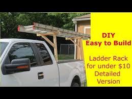 DIY Easy to Build Ladder Rack for Under $10 detailed version - YouTube