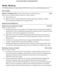 Curriculum Vitae Sample Graduate School Application Save Cv For