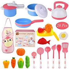 Biulotter 28 Pcs Kitchen Cooking Set Girls Boys Fruit ... - Amazon.com