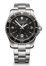 swiss army watch new victorinox swiss army maverick black dial stainless steel men s watch 241697