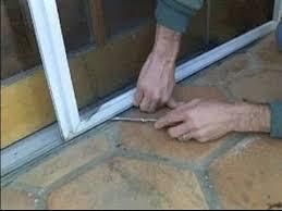 sliding screen door track. sliding screen door repair : removing a track